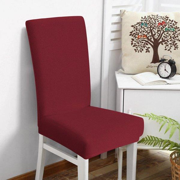 Κάλυμμα Καρέκλας Ελαστικό Elegance Μπορντώ Μονόχρωμο Lino Home