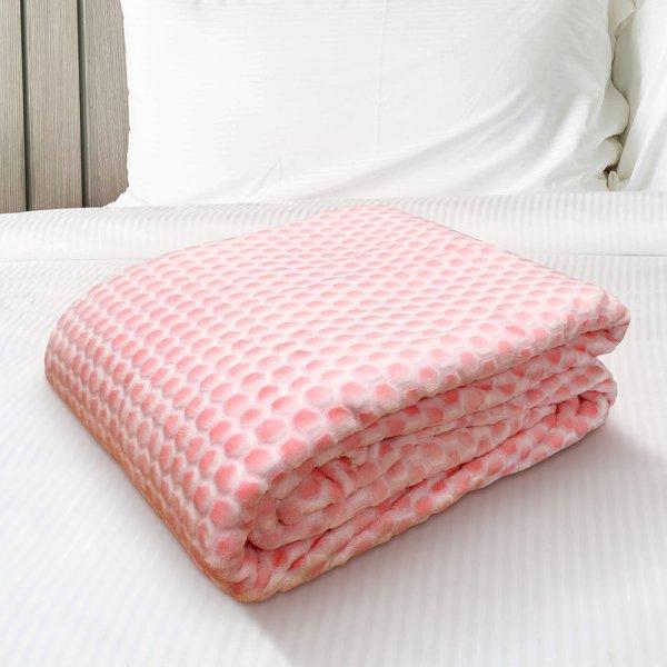Κουβέρτα Fleece Διπλή Tory Pink Lino Home