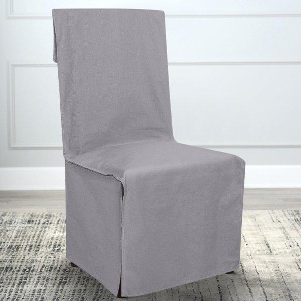 Κάλυμμα Καρέκλας Μονόχρωμο Mykonos Ανοιχτό Γκρι 801 Lino Home