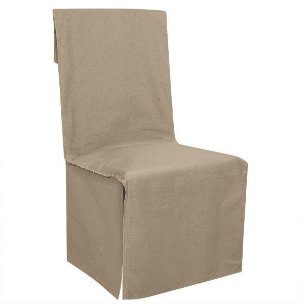 Κάλυμμα Καρέκλας Μονόχρωμο Mykonos Μπεζ Lino Home