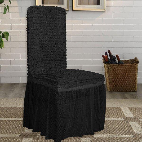 Κάλυμμα Καρέκλας Lycra Μαύρο Lino Home