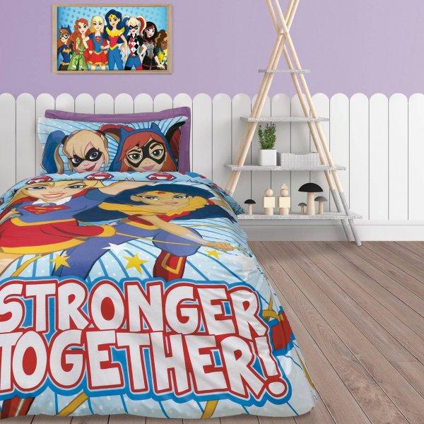 Σετ Παπλωματοθήκη Μονή Super Hero Girls 5005 Das Kids