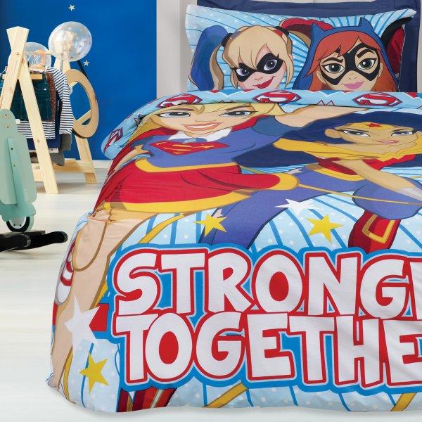 Σετ Κουβερλί Μονό Super Hero Girls 5005 Das Kids