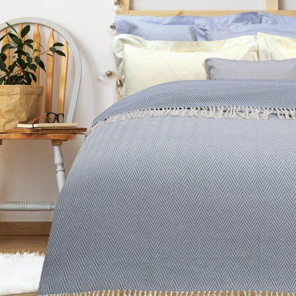 Κουβέρτα Πικέ Υπέρδιπλη Με Κρόσια 345 Das Home