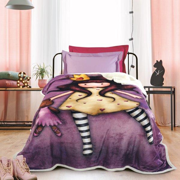 Κουβέρτα Fleece Μονή Santoro Gorjuss - Princesses 5021 Das Kids