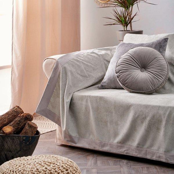 Ριχτάρι Πολυθρόνας (180x160) Bally Gray Palamaiki