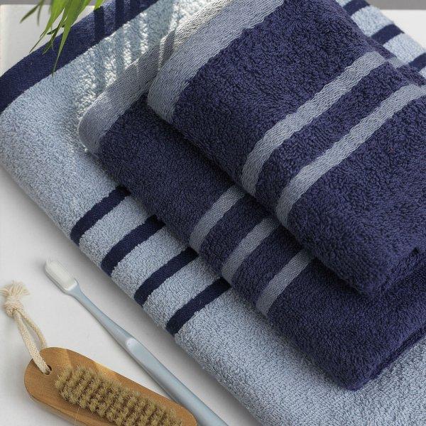 Σετ Πετσέτες Μπάνιου (3τμχ) Contrast Blue Palamaiki