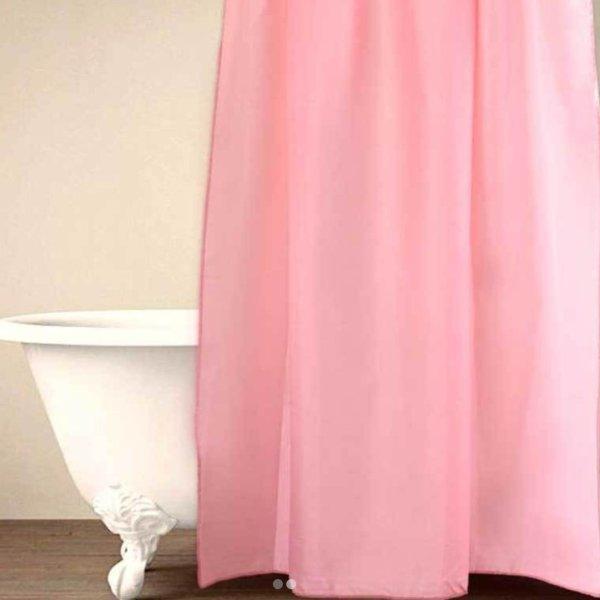 Κουρτίνα Μπάνιου (180x180) Simple Pink Palamaiki