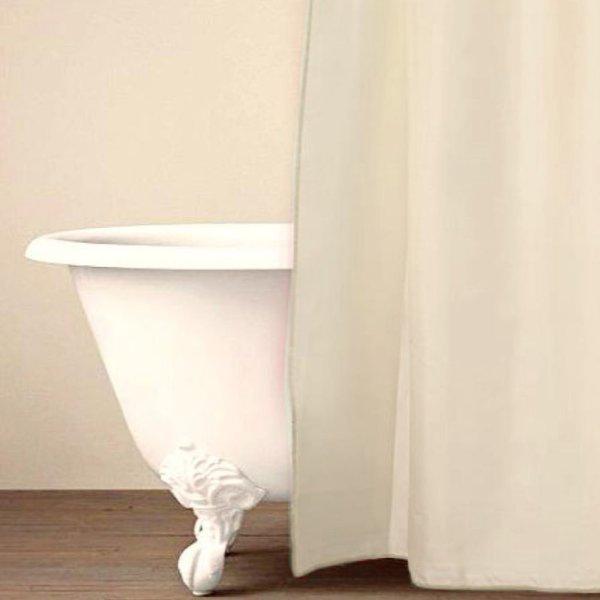 Κουρτίνα Μπάνιου (180x200) Simple Cream Palamaiki