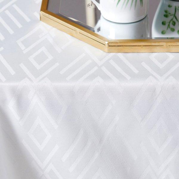 Αλέκιαστο Τραπεζομάντηλο (160x180) Isla White Palamaiki