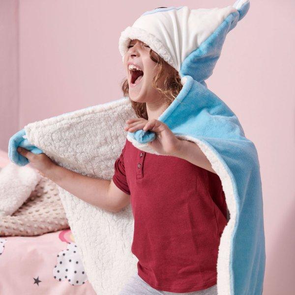 Κουβέρτα Fleece Με Κουκούλα NB0126 Blue Palamaiki