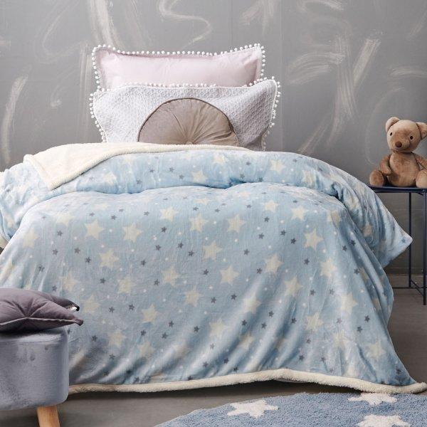 Κουβέρτα Fleece Κούνιας Sky Boy Palamaiki
