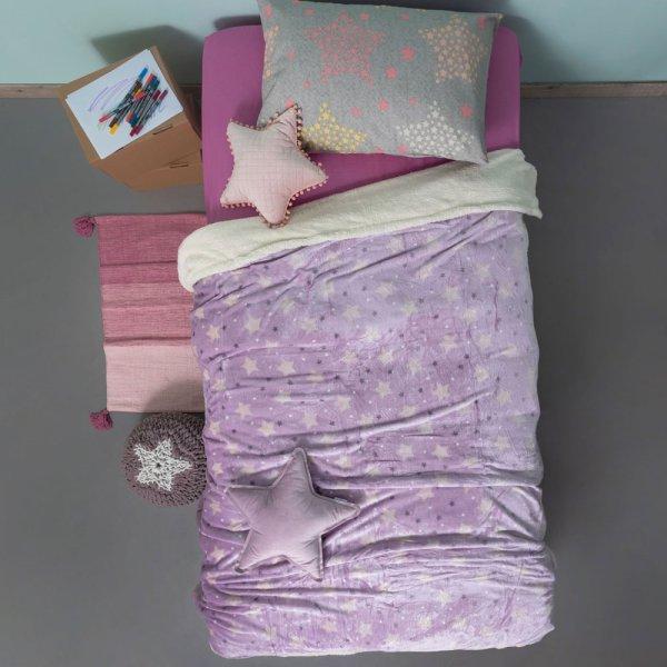 Κουβέρτα Fleece Κούνιας Sky Girl Palamaiki