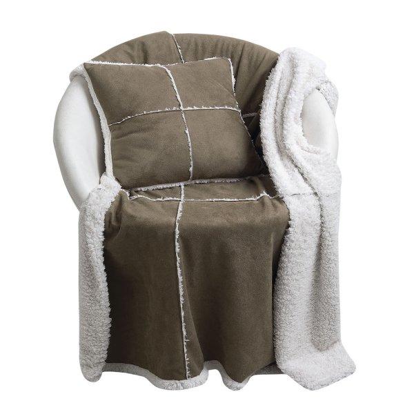 Κουβέρτα Fleece Καναπέ + Μαξιλάρι 327 Das Home