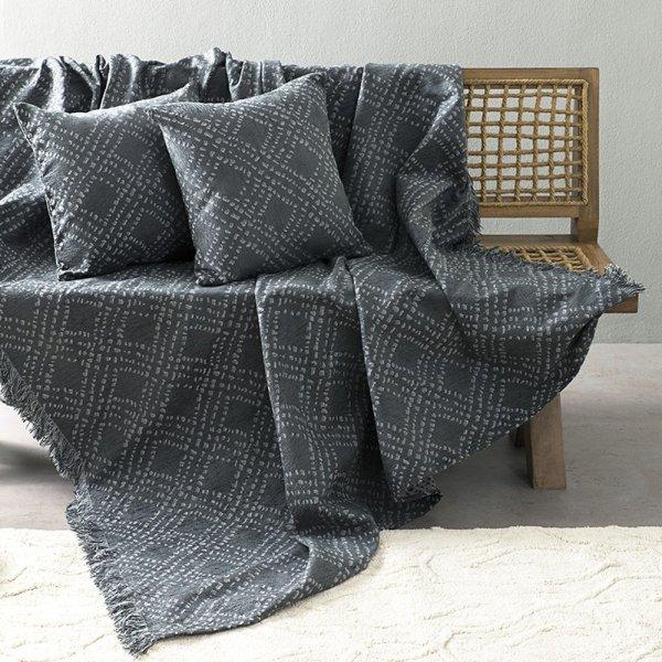 Ριχτάρι Τριθέσιου (180x300) Figure Dark Gray Nima Home