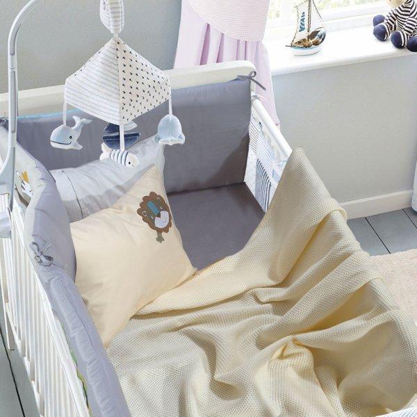 Κουβέρτα Πικέ Κούνιας Relax 6543 Das Kids