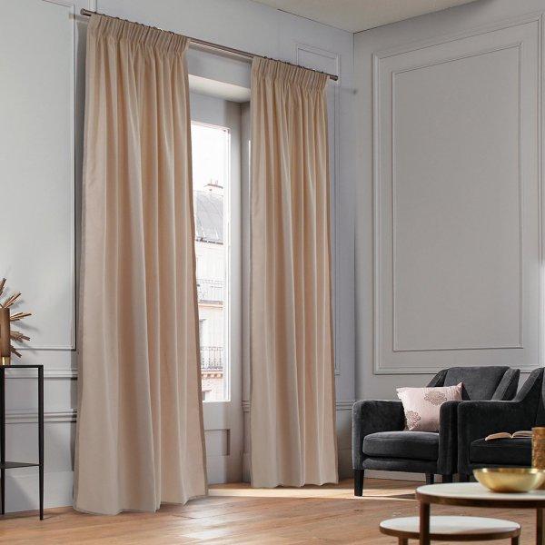 Κουρτίνα (140x235) Με Τρέσα Micro Old Pink Lino Home