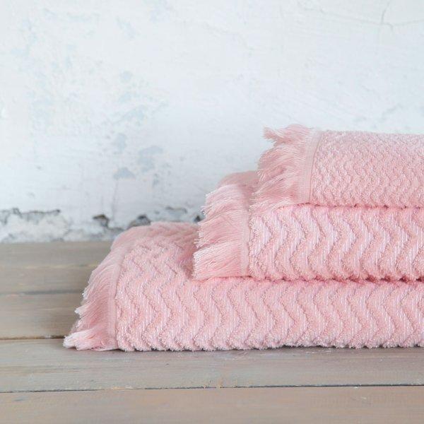 Σετ Πετσέτες Μπάνιου (3τμχ) Contour Pink Nima Home