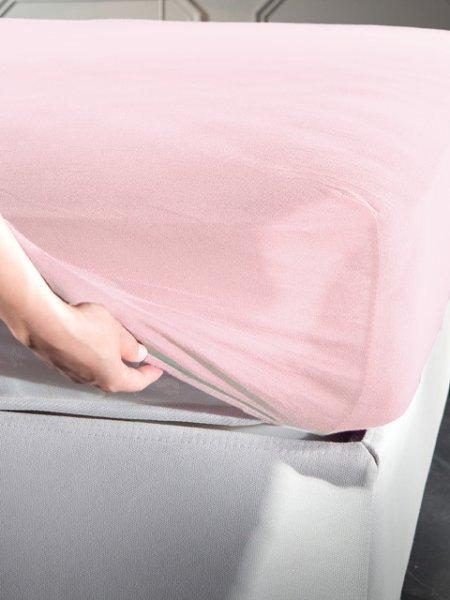 Σεντόνι Μακό Ημίδιπλο Με Λάστιχο Jersey Pink La Luna