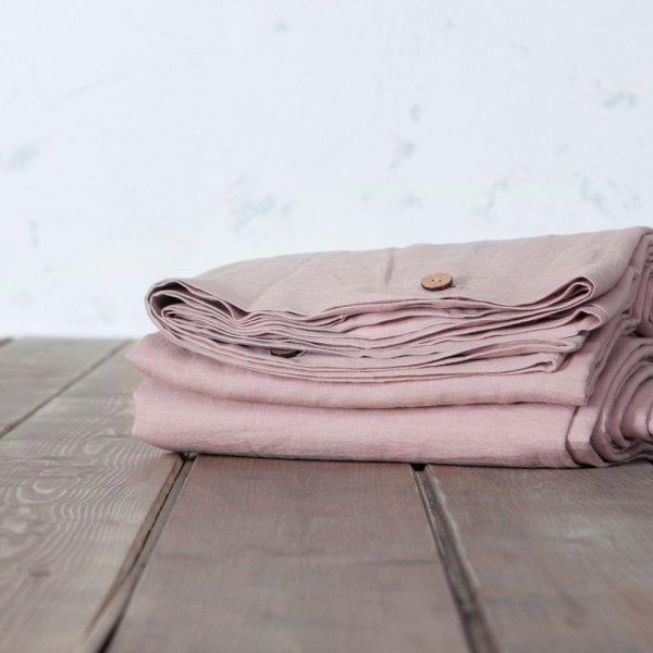 Παπλωματοθήκη Μονή Linen Dusty Pink Nima Home
