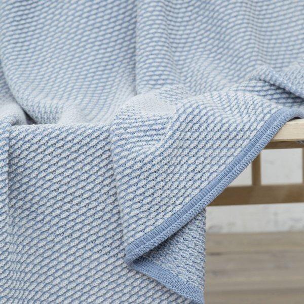 Κουβέρτα Μάλλινη Κούνιας Lint Light Blue Nima Kids