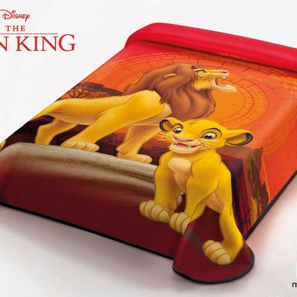 Κουβέρτα Βελουτέ Μονή Lion King Disney Belpla