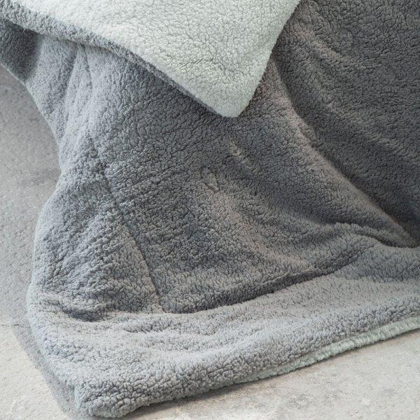 Κουβερτοπάπλωμα Μονό Melt Light Gray/Dark Gray Nima Home