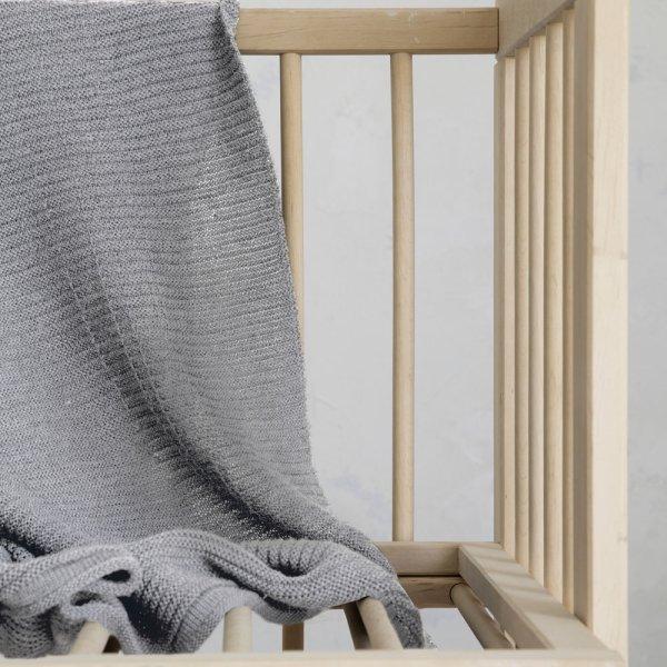Κουβέρτα Μάλλινη Κούνιας Pile Gray Nima Kids