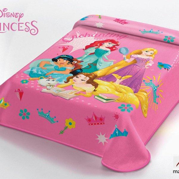 Κουβέρτα Βελουτέ Μονή Princess Disney Belpla