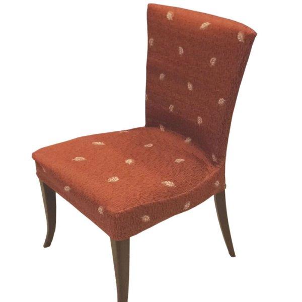 Κάλυμμα Καρέκλας Κεραμιδί Με Σχέδιο Εκρού Φύλλο Ariete Home