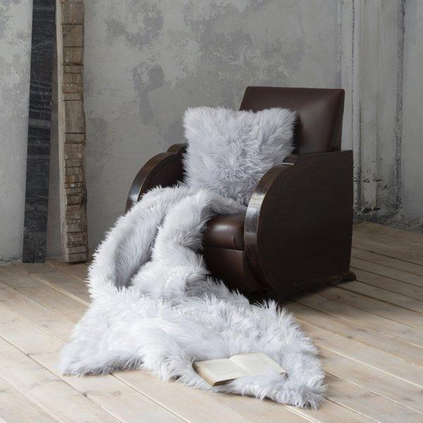 Κουβέρτα Καναπέ Fluffy Gray Nima Home