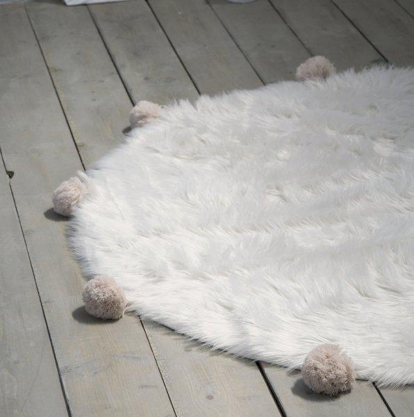 Στρογγυλό Χαλί (R150) Fluffy Taupe Deco Nima Home