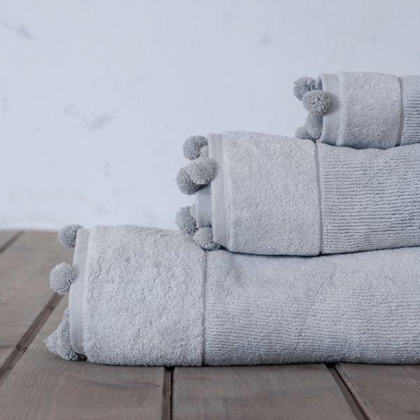 Πετσέτα Σώματος Plush Gray Nima Home