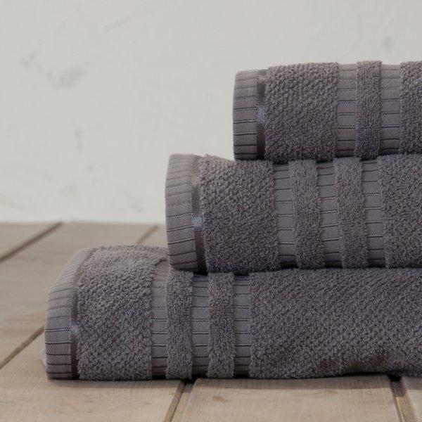 Σετ Πετσέτες Μπάνιου (3τμχ) Canali Gray Nima Home