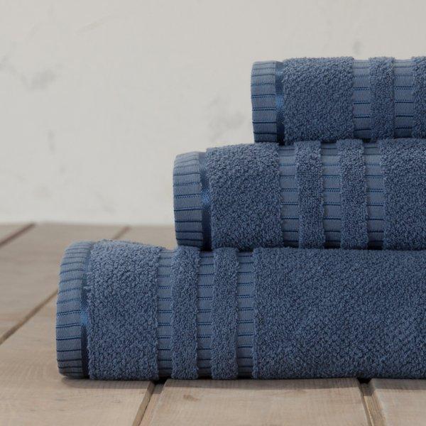 Σετ Πετσέτες Μπάνιου (3τμχ) Canali Blue Nima Home