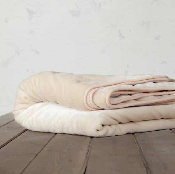 Κουβέρτα Βελουτέ Μονή Coperta Light Beige Nima Home