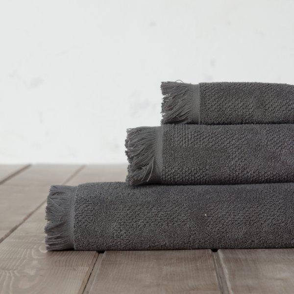 Πετσέτα Σώματος Sieve Dark Gray Nima Home