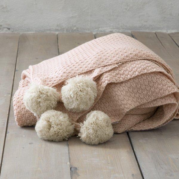 Κουβέρτα Πλεκτή Μονή Braid Salmon Nima Home