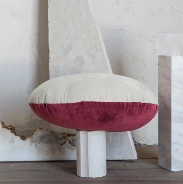 Διακοσμητικό Μαξιλάρι Velvety Red/Light Gray Nima Home