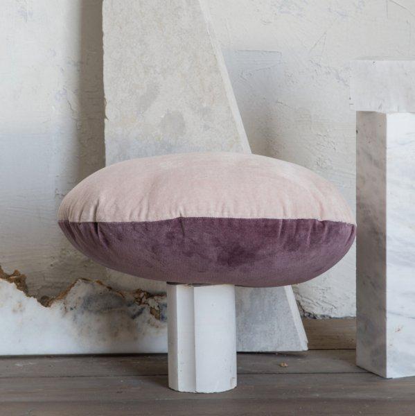 Διακοσμητικό Μαξιλάρι Velvety Powder Pink/Cassis Nima Home