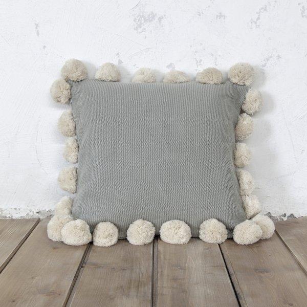 Διακοσμητικό Μαξιλάρι Pom Pom Snug Mint Nima Home