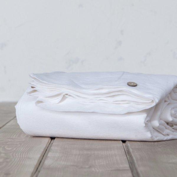 Παπλωματοθήκη Μονή Linen White Nima Home