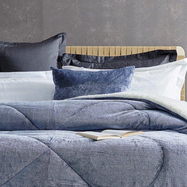 Διακοσμητική Μαξιλαροθήκη Grind Blue Palamaiki
