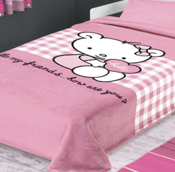 Κουβέρτα Βελουτέ Μονή Ster 272 Pink Belpla