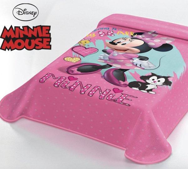 Κουβέρτα Βελουτέ Μονή Minnie Mouse Disney Belpla