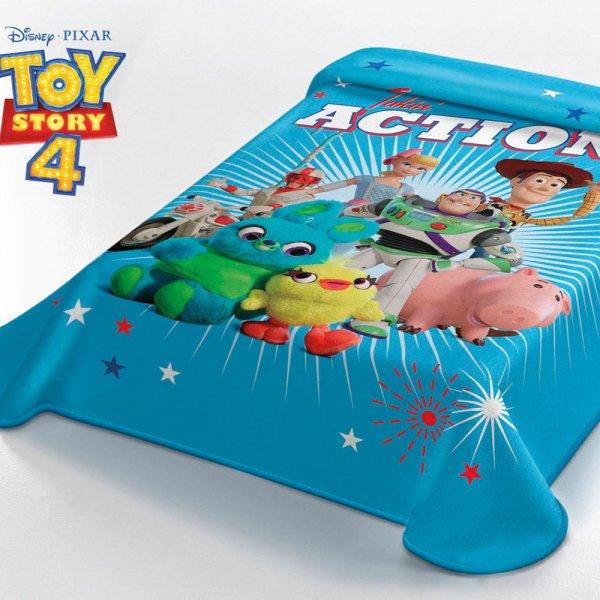 Κουβέρτα Βελουτέ Μονή Toy Story 4 Disney Belpla