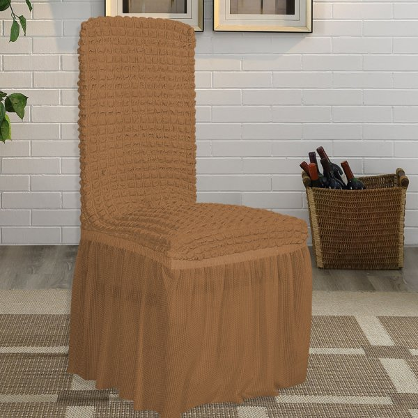 Κάλυμμα Καρέκλας Lycra Μόκα Lino Home