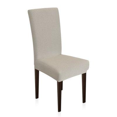 Κάλυμμα Καρέκλας Ελαστικό Elegance Εκρού Μονόχρωμο Lino Home