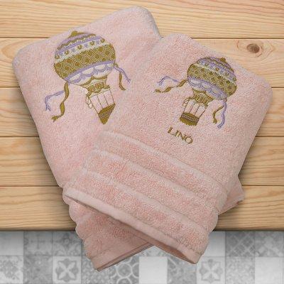 Σετ Πετσέτες Βρεφικές (2τμχ) Hava Pink Lino Home