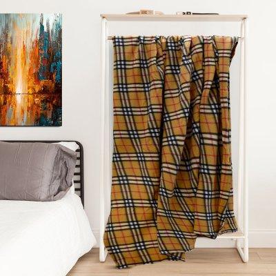 Κουβέρτα Fleece Υπέρδιπλη Dimi Beige Lino Home